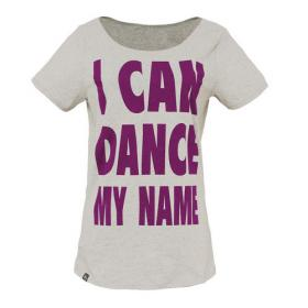 BLEED TEE I CAN DANCE MY NAME GREY