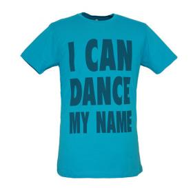 BLEED TEE I CAN DANCE MY NAME CYAN
