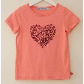 *ENFANT TERRIBLE T-SHIRT HERZ APRICOT