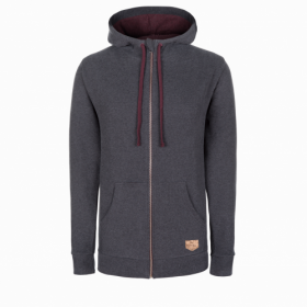 BLEED WOODY ZIP HOODY UNISEX DARK GREY