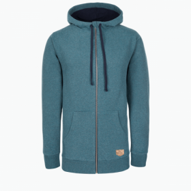 BLEED WOODY ZIP HOODY UNISEX BLUE