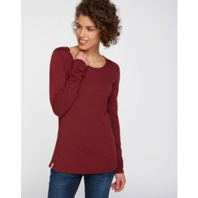 RECOLUTION LONGSLEEVE BASIC BURGUNDY