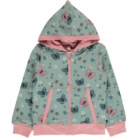 *MAXOMORRA ZIP-HOODY SCHMETTERLING