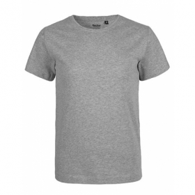 NEUTRAL KIDS T-SHIRT GRAU MELIERT