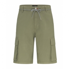 RECOLUTION CANVAS CARGO SHORTS OLIVE
