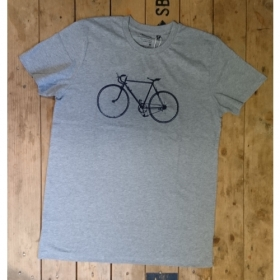 *NEUTRAL T-SHIRT GRAU MELIERT VELO