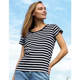 *NEUTRAL LOOSE FIT T-SHIRT STRIPES