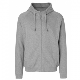 *NEUTRAL UNISEX ZIP-HOODY GREY