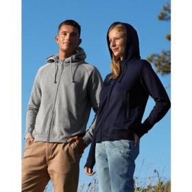 *NEUTRAL UNISEX ZIP-HOODY NAVY