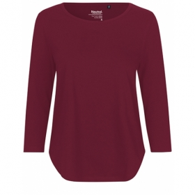 *NEUTRAL 3/4ARM SHIRT BORDEAUX