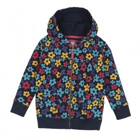 *FRUGI ZIP-HOODY FLOWER POP