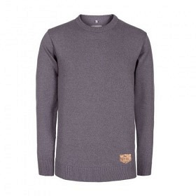 BLEED KNITTED JUMPER GREY