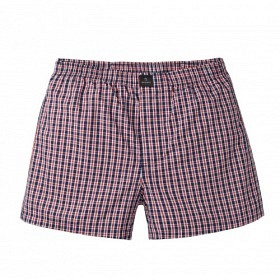 RECOLUTION BOXERSHORTS CLASSIC CHECKED NAVY-RED