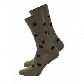 RECOLUTION SOCKEN #STARS OLIVE
