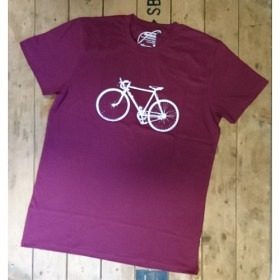 *NEUTRAL T-SHIRT BORDEAUX VELO
